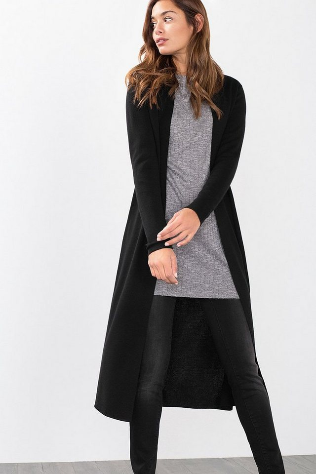 ESPRIT COLLECTION Geschmeidiger Extra Long Cardigan in BLACK