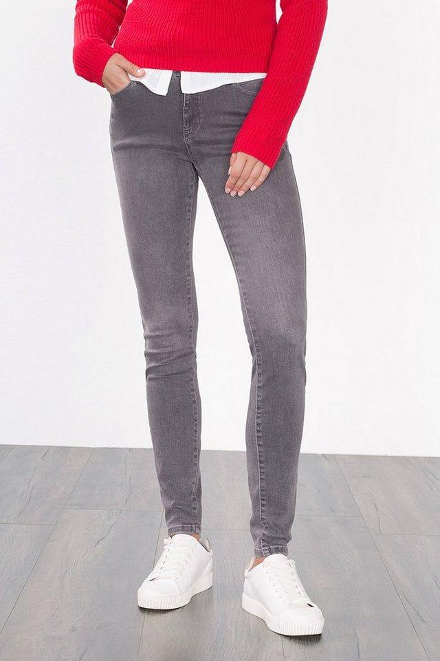 ESPRIT COLLECTION Super-Stretch Jeans aus Baumwolle-Modal in GREY MEDIUM WASHED
