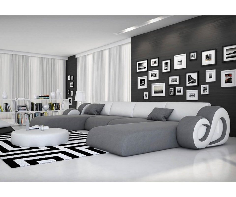 delife couch constanza grau weiss 485x242 kaufen otto. Black Bedroom Furniture Sets. Home Design Ideas