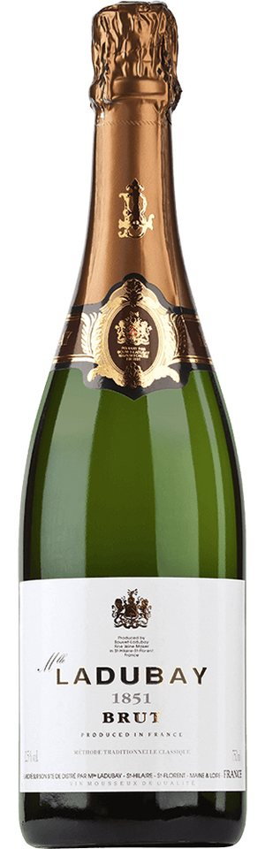 Schaumwein aus Frankreich, 12,5 Vol.-%, 75,00 cl »Mlle Ladubay Brut 1851«