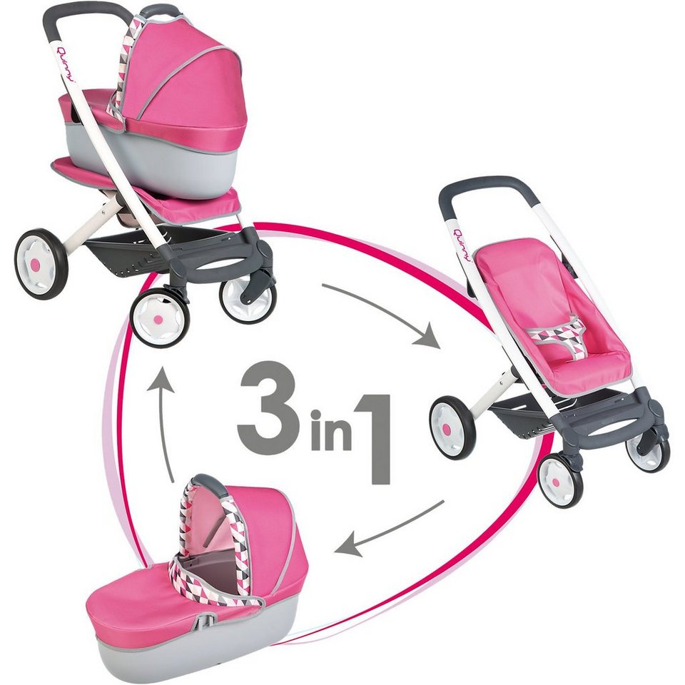 Smoby Puppenwagen 3 in 1