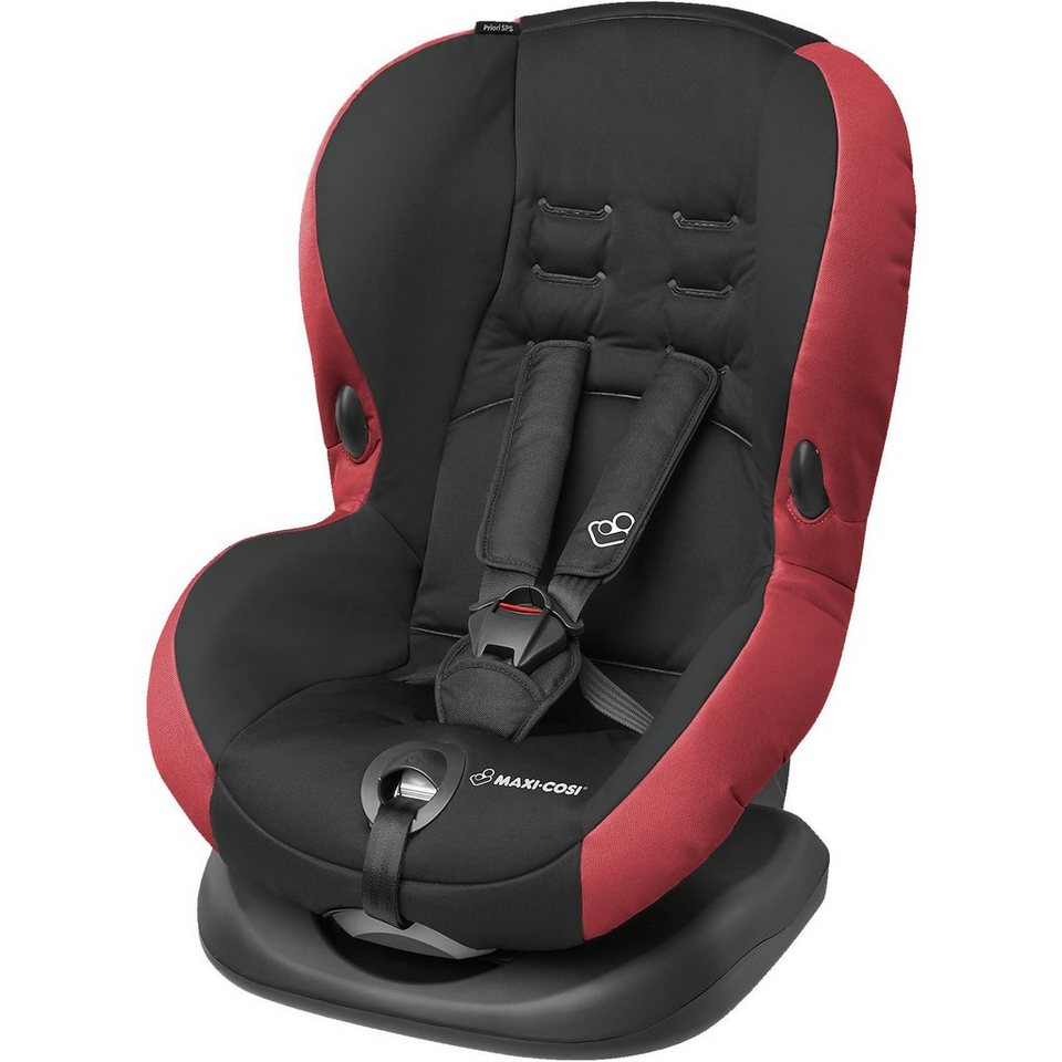 Maxi-Cosi Auto-Kindersitz Priori SPS+, Pepper Black, 2017 in rot/schwarz