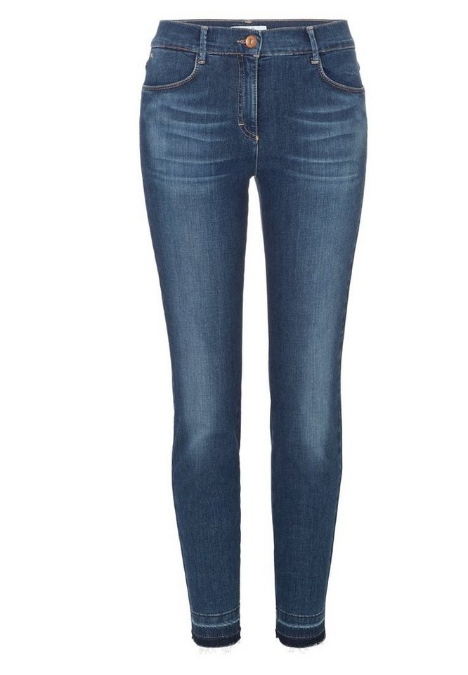 BRAX Jeans »SHAKIRA FRINGE« in BLUE WAVE