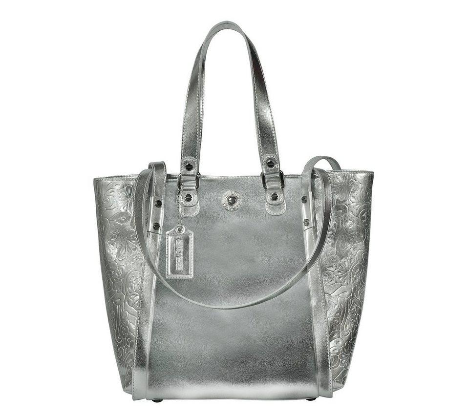 Silvio Tossi Handtaschen in metallic-silber