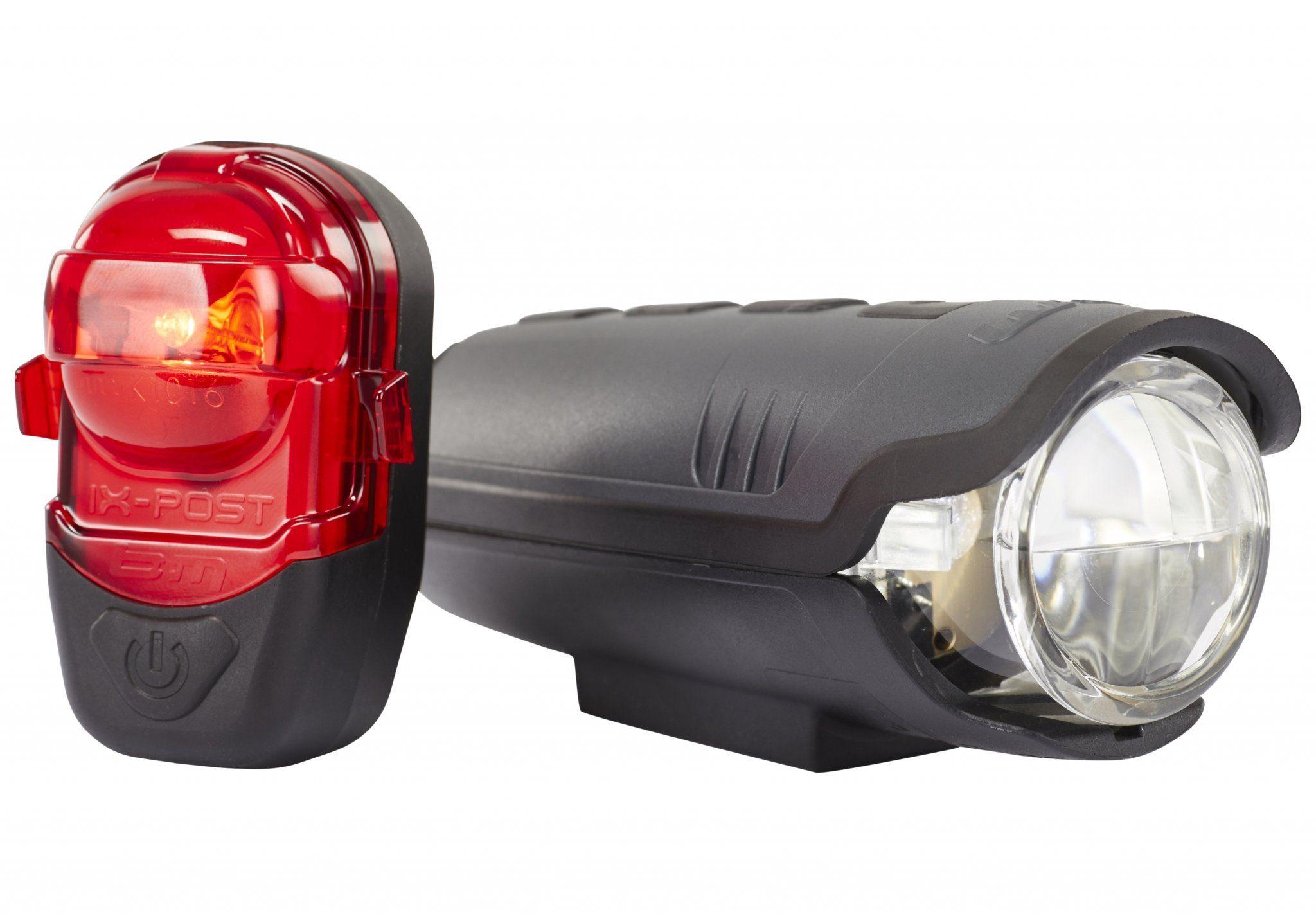 Busch + Müller Fahrradbeleuchtung »IXON Pure B / IX-Post Beleuchtungsset schwarz«