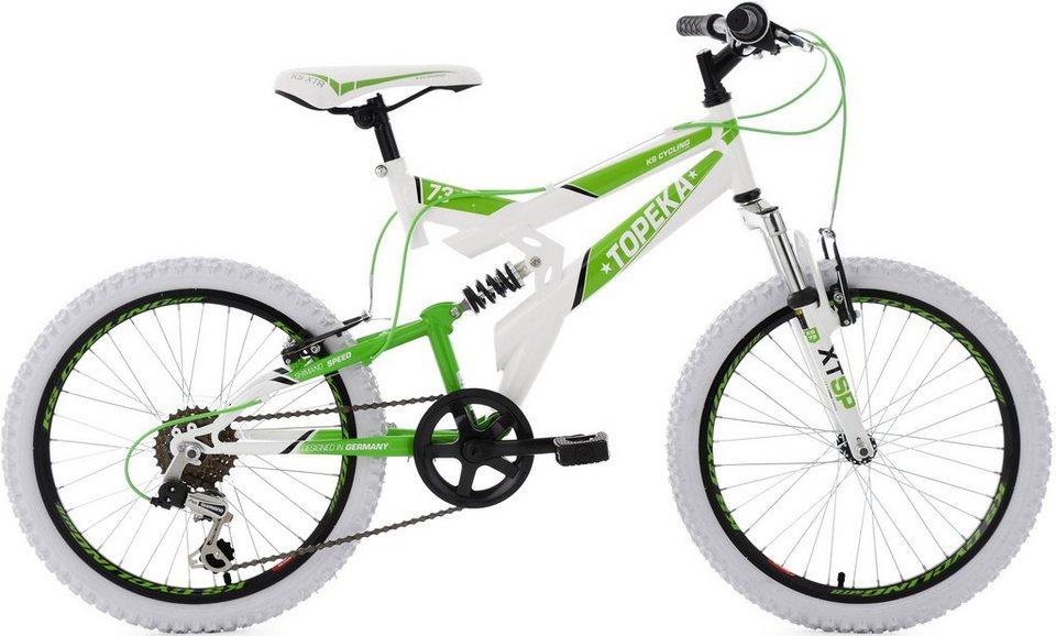 KS Cycling Kinderfahrrad, 20 Zoll, weiß-grün, Shimano 6 Gang-Kettenschaltung, »Topeka« in weiß