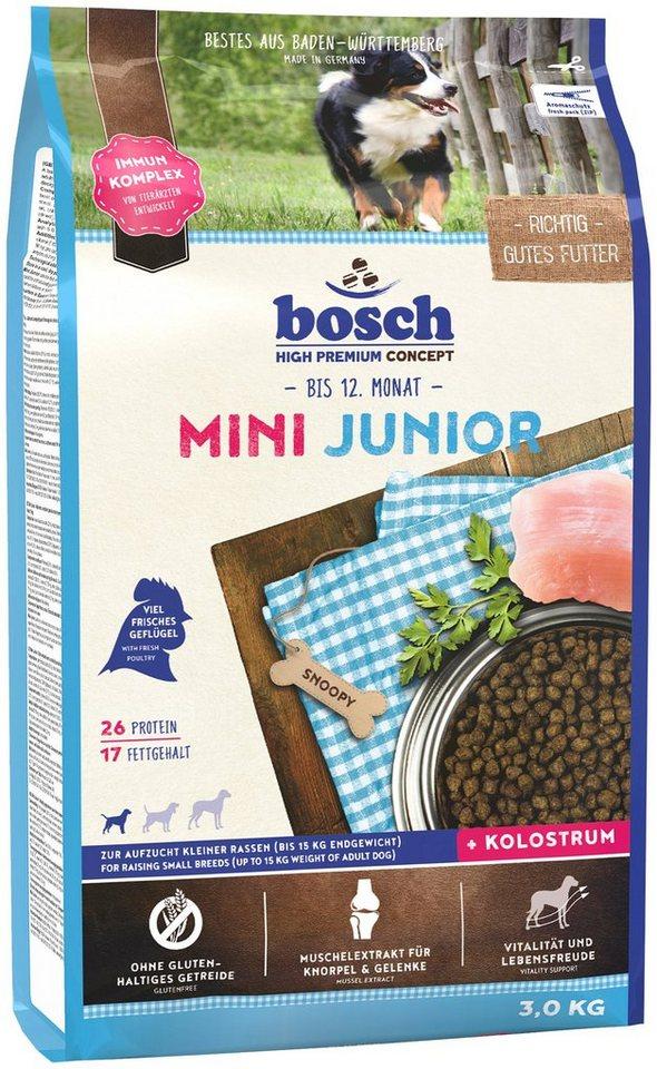 Hundetrockenfutter »Mini Junior«, 3 kg in braun
