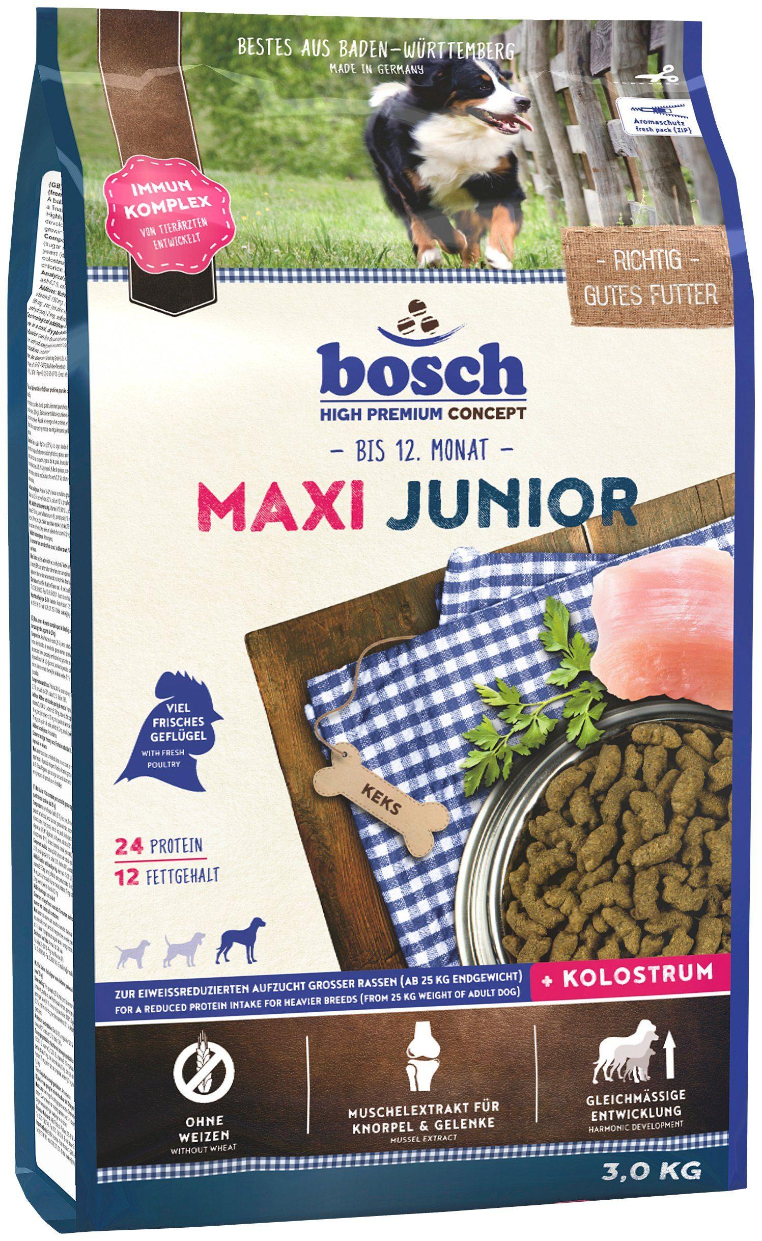 Hundetrockenfutter »Maxi Junior«, 3 kg