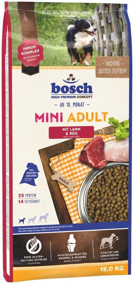 Hundetrockenfutter »Mini Adult Lamm & Reis«, 15 kg in braun