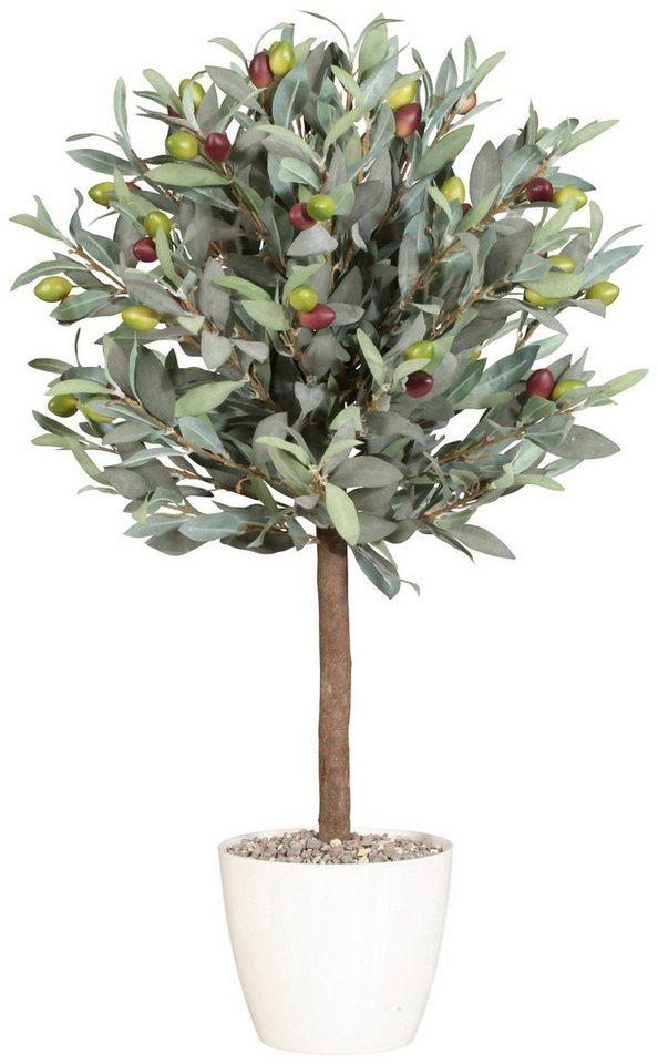 Kunstpflanze »Olivenkugelbaum« inkl. Pflanzgefäß (H: 70 cm) in grün