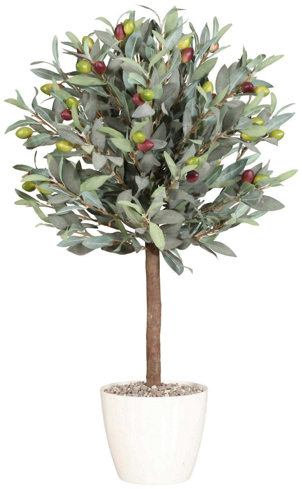 Kunstpflanze »Olivenkugelbaum« inkl. Pflanzgefäß (H: 70 cm)