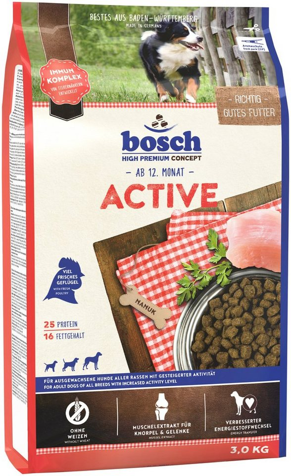 Hundetrockenfutter »Adult Active«, 3 kg in braun
