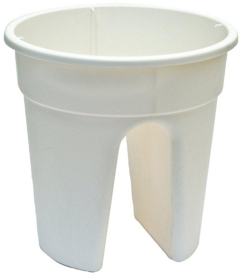 Set: Pflanztopf »Flowerclip«, 3 Stk., weiß in weiß