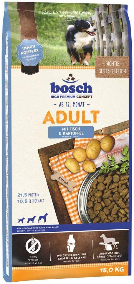 Hundetrockenfutter »Adult Fisch & Kartoffel«, 15 kg in braun