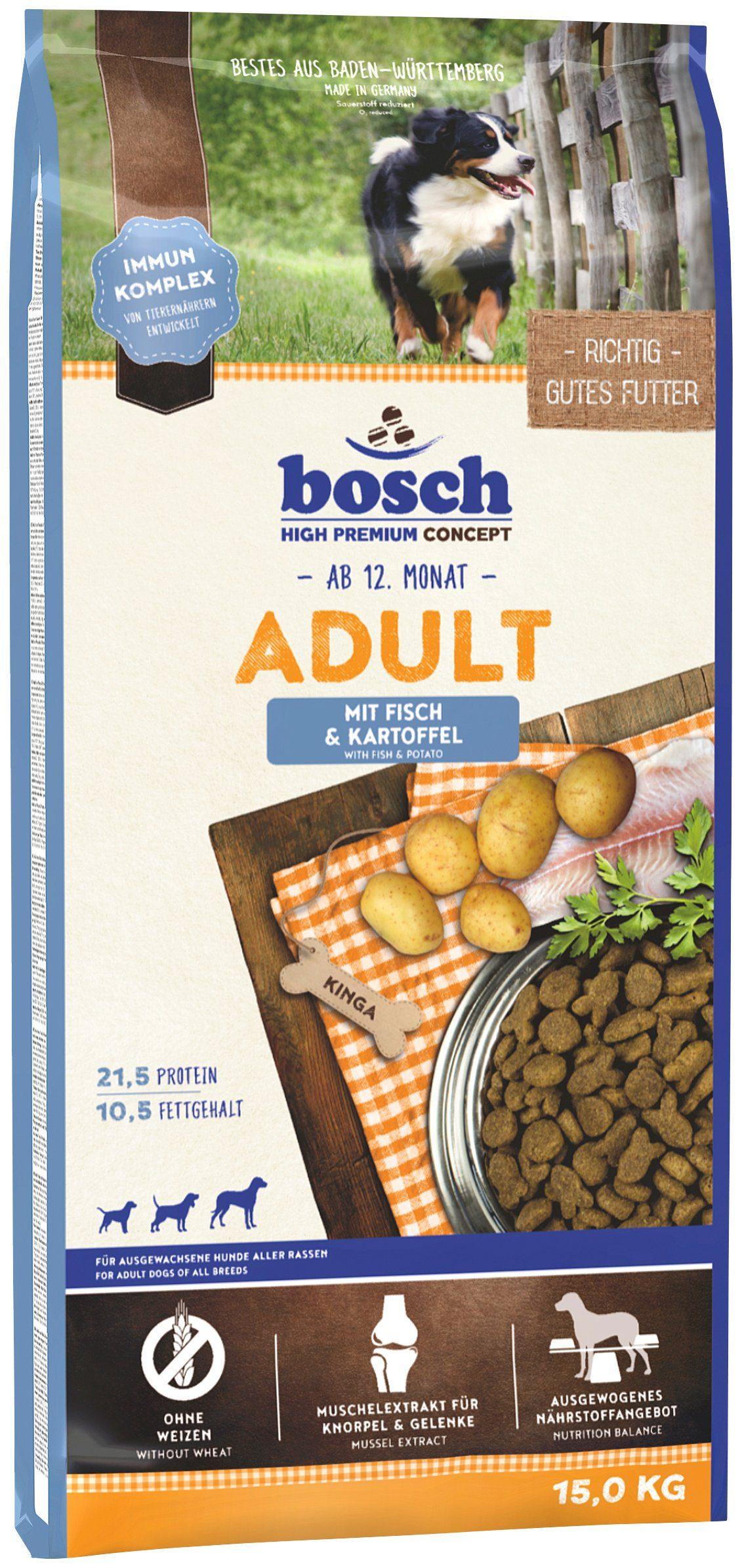 Bosch Petfood Hundetrockenfutter »Adult Fisch & Kartoffel«, 15 kg
