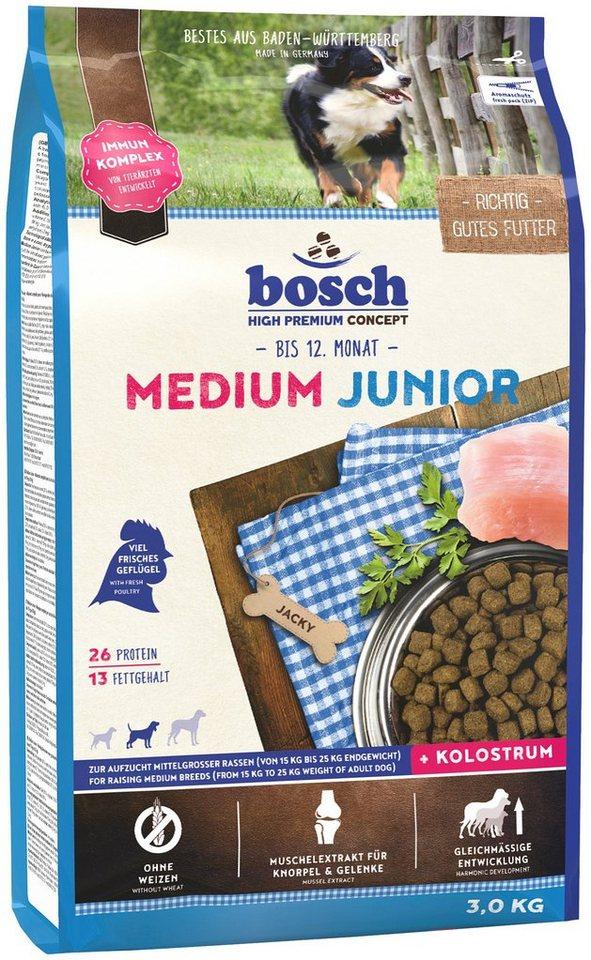 Hundetrockenfutter »Medium Junior«, 3 kg in braun