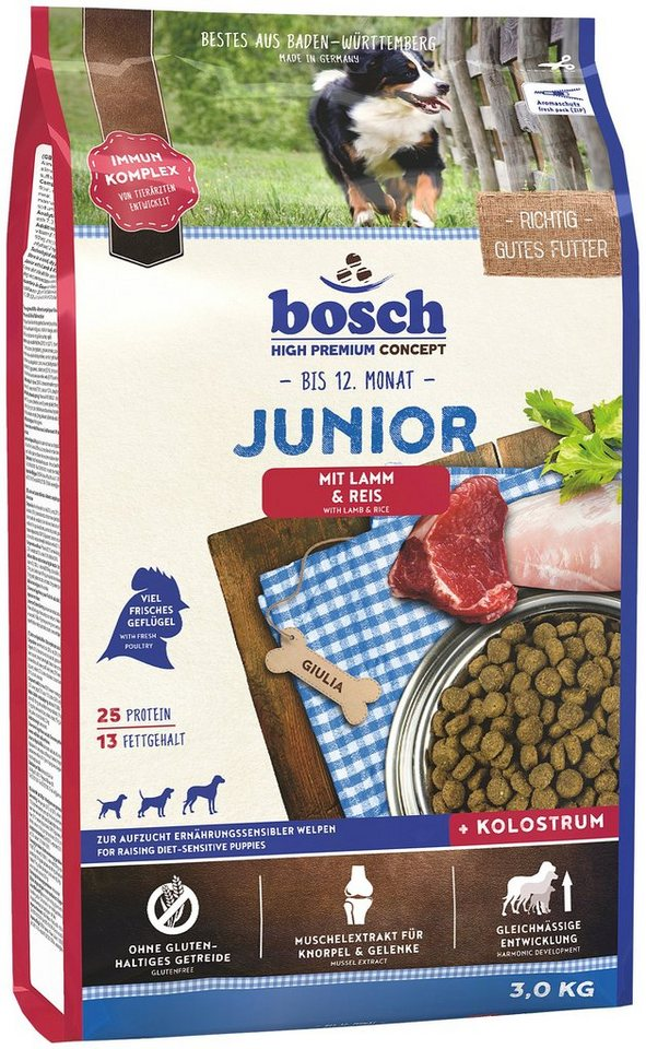 Hundetrockenfutter »Junior Lamm & Reis«, 3 kg in braun