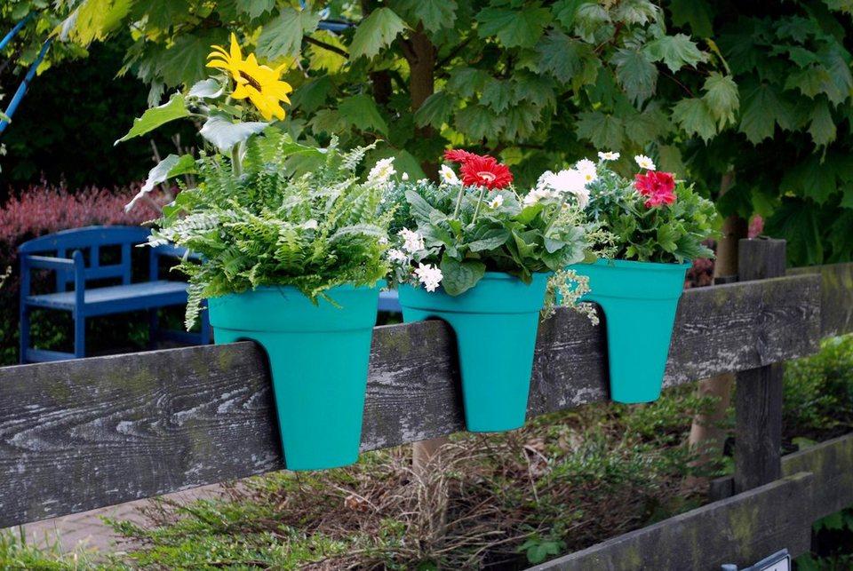 Set: Pflanztopf »Flowerclip«, 3 Stk., türkis in blau