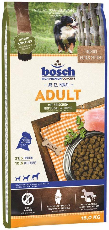 Hundetrockenfutter »Adult Geflügel & Hirse«, 15 kg in braun