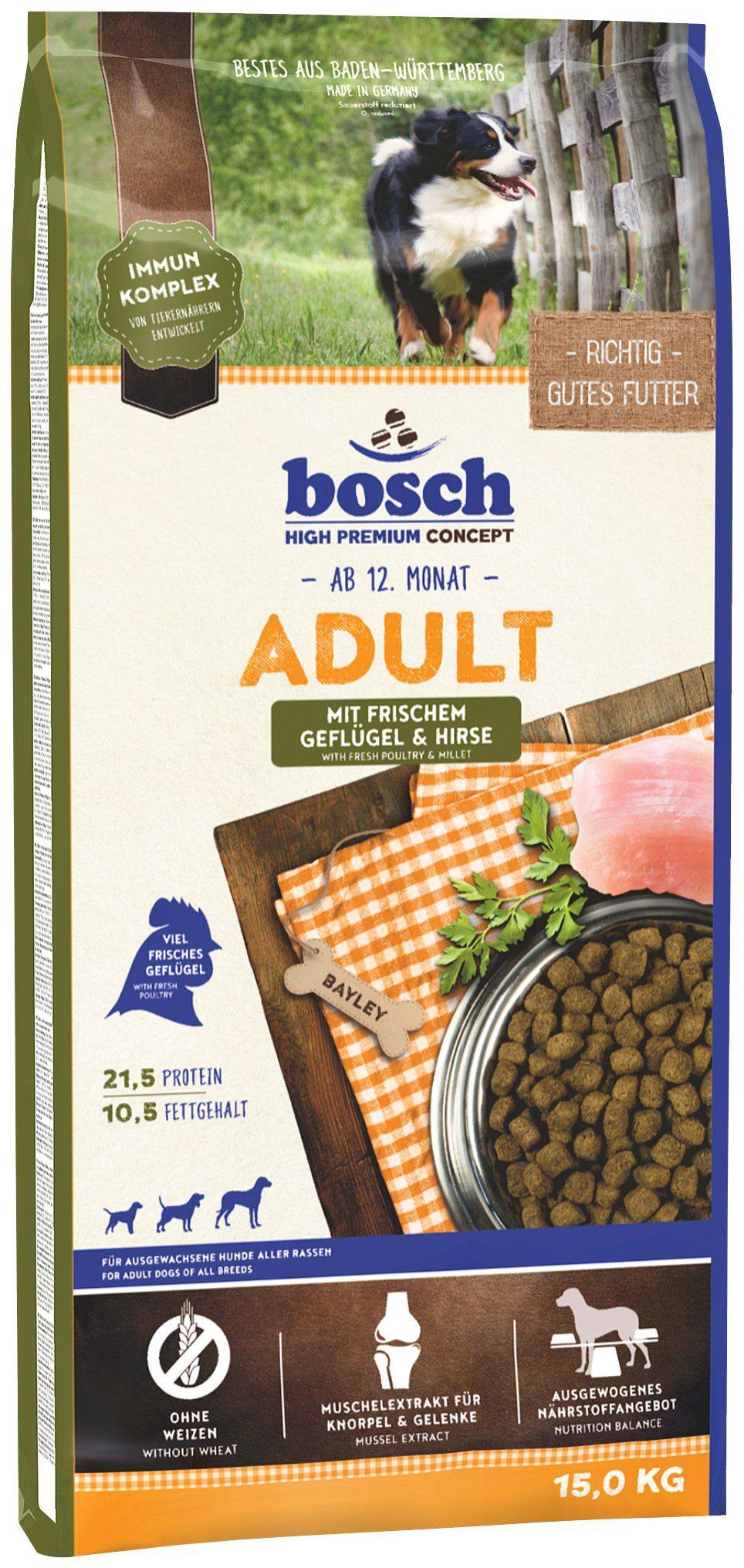 Hundetrockenfutter »Adult Geflügel & Hirse«, 15 kg