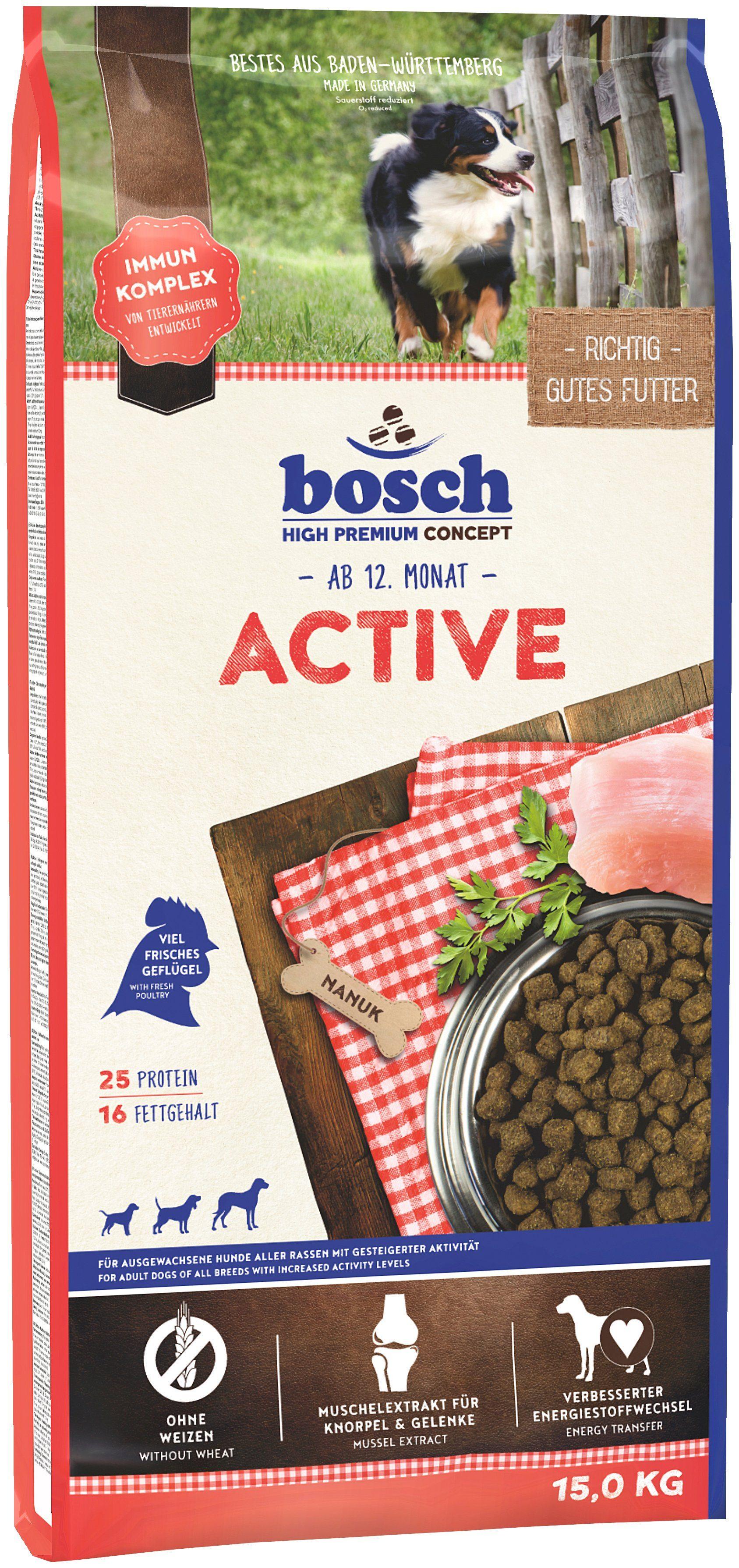 Bosch Petfood Hundetrockenfutter »Adult Active«, 15 kg