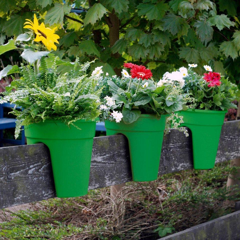 Set: Pflanztopf »Flowerclip«, 3 Stk., grün in grün