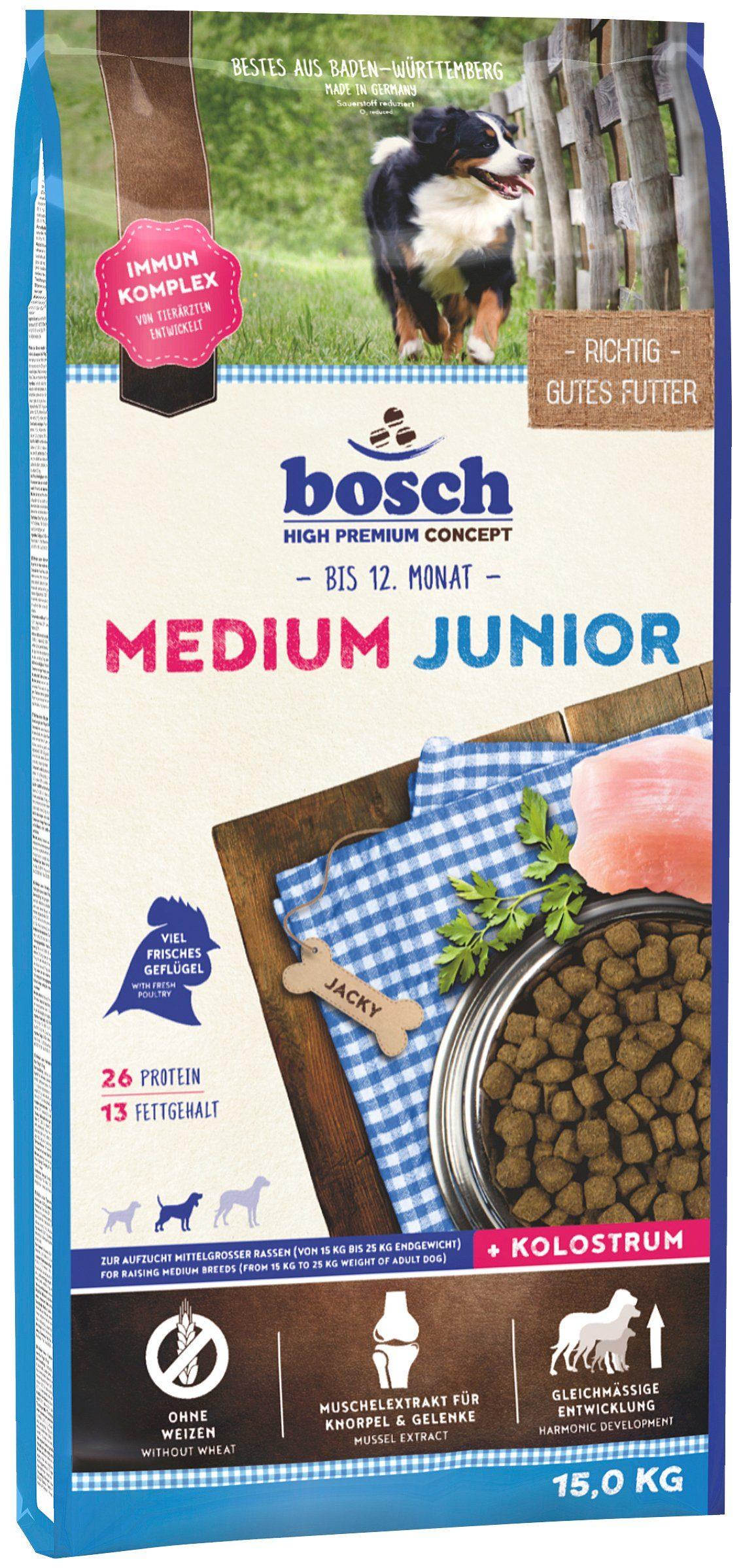 Bosch Petfood Hundetrockenfutter »Medium Junior«, 15 kg