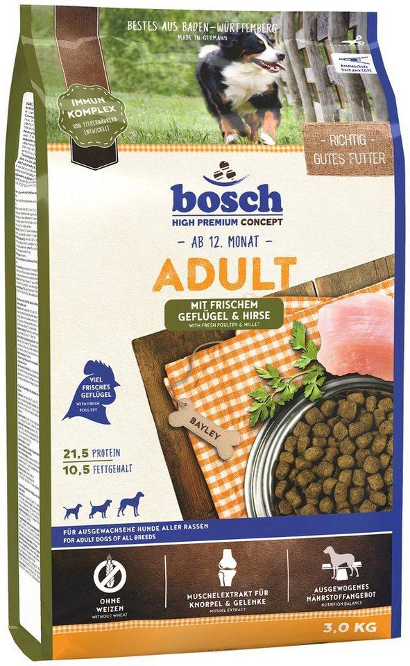 Hundetrockenfutter »Adult Geflügel & Hirse«, 3 kg in braun