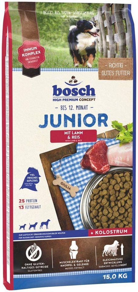 Hundetrockenfutter »Junior Lamm & Reis«, 15 kg in braun