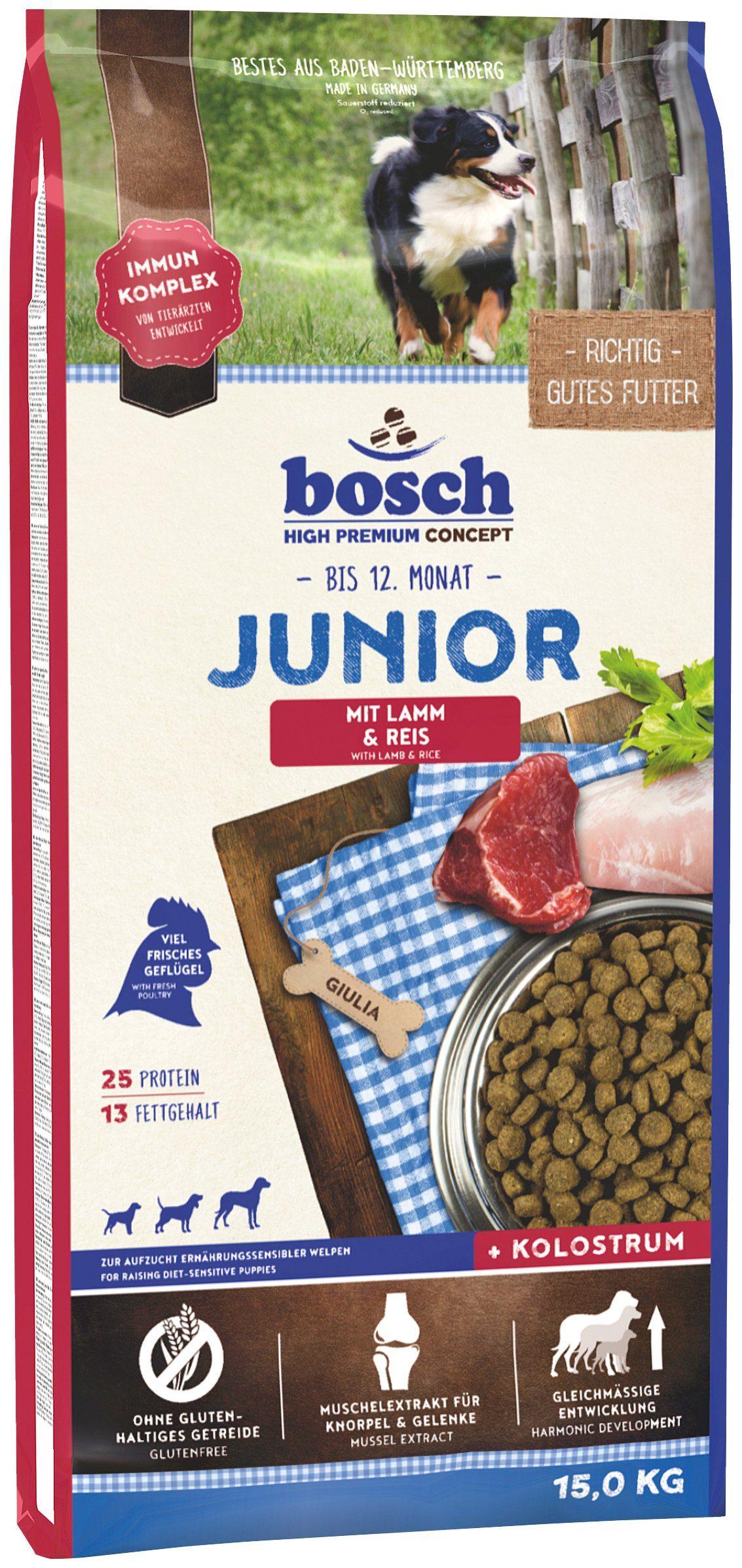 Hundetrockenfutter »Junior Lamm & Reis«, 15 kg