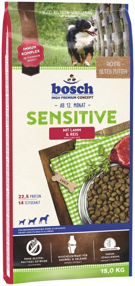bosch petfood hundetrockenfutter sensitive lamm reis 15 kg online kaufen otto. Black Bedroom Furniture Sets. Home Design Ideas