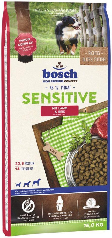 Hundetrockenfutter »Sensitive Lamm & Reis«, 15 kg in braun