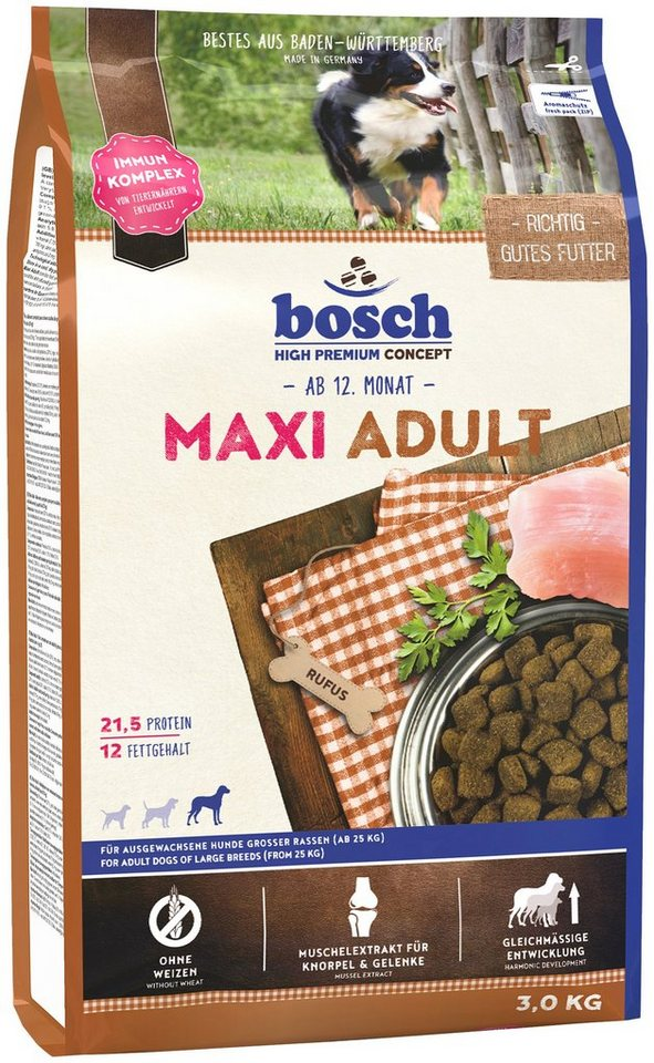 Hundetrockenfutter »Maxi Adult«, 3 kg in braun