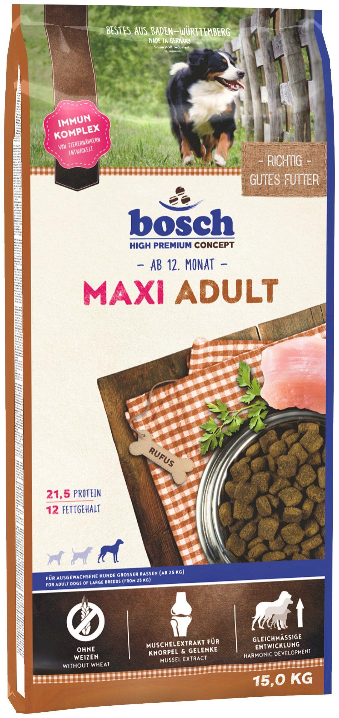 Hundetrockenfutter »Maxi Adult«, 15 kg