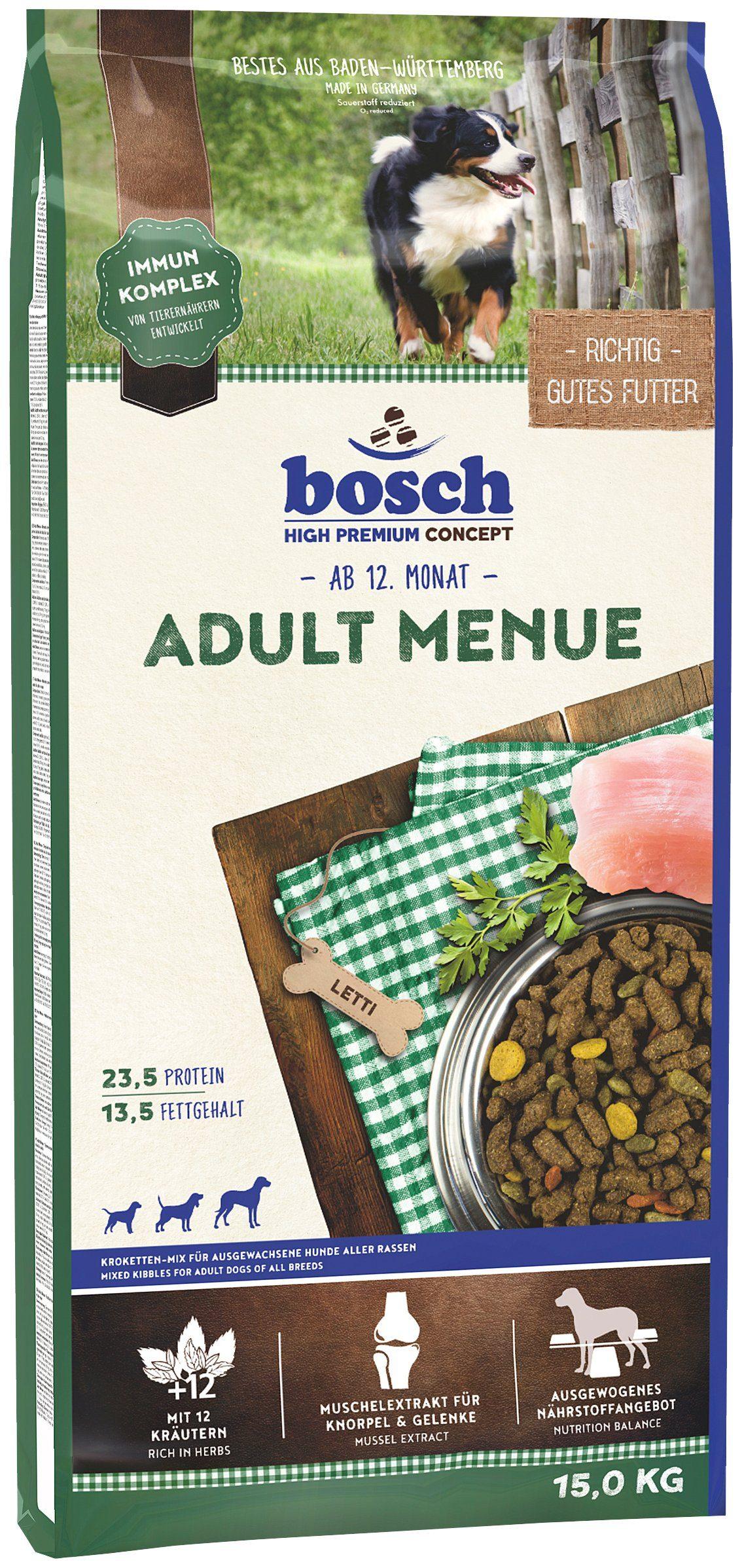 Bosch Petfood Hundetrockenfutter »Adult Menue«, 15 kg