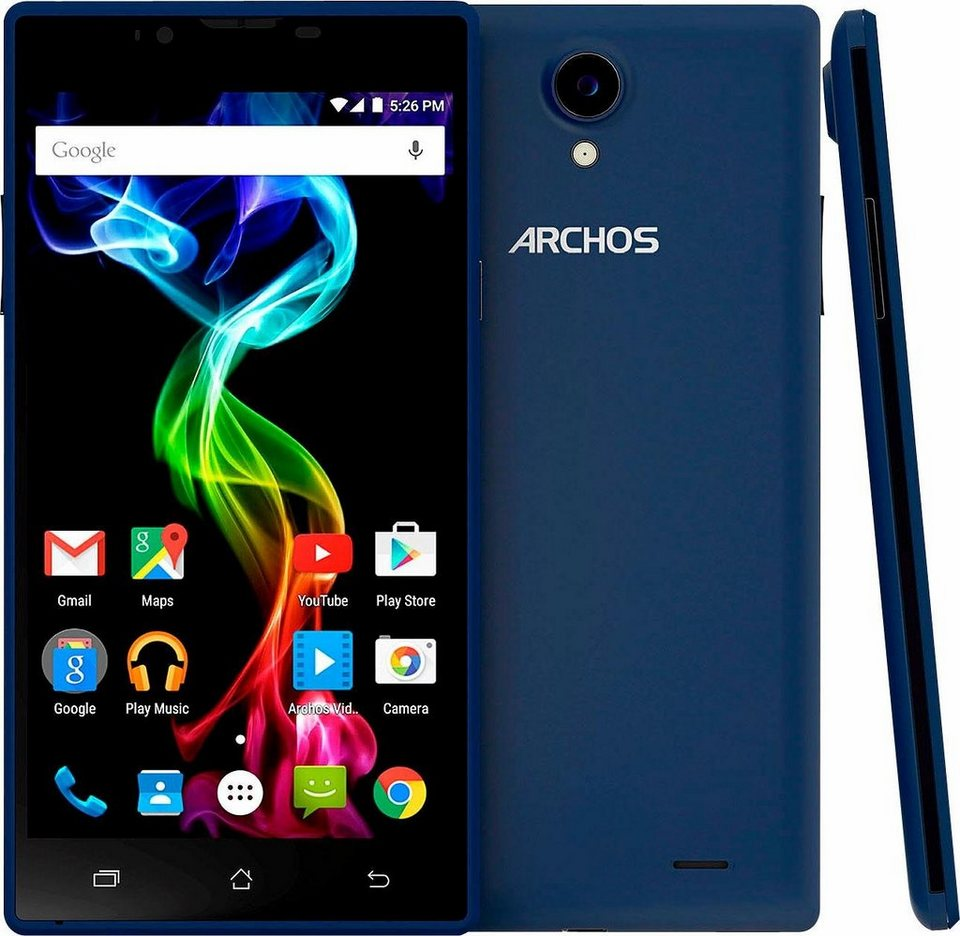 Archos 55 Platinum Smartphone + Powerbank, 13,97 cm (5,5 Zoll) Display, LTE (4G) in blau