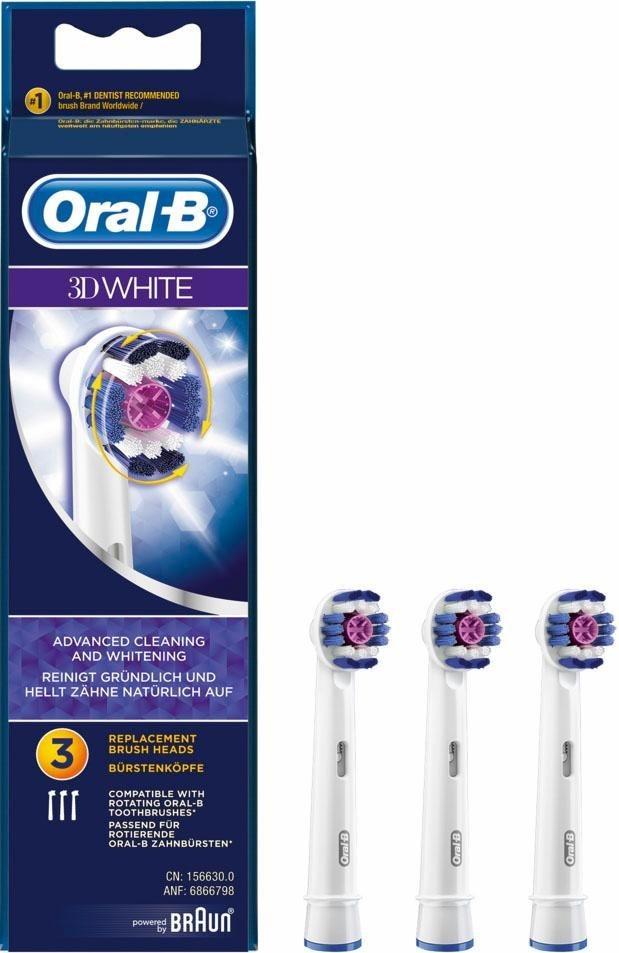 Oral-B, Aufsteckbürsten, 3D White, 3er Pack