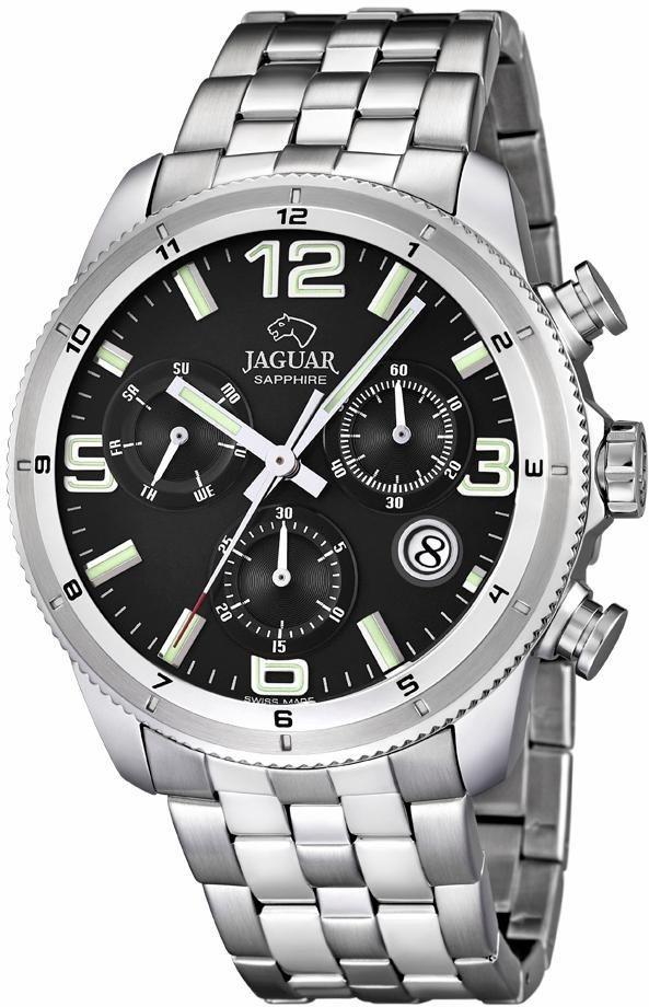 Jaguar Chronograph »Exekutive Swiss Made, J687/3« dezentrale Sekunde in silberfarben