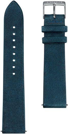 STERNGLAS Uhrenarmband »Vintage 20 nachtblau silber, SBA00/305«