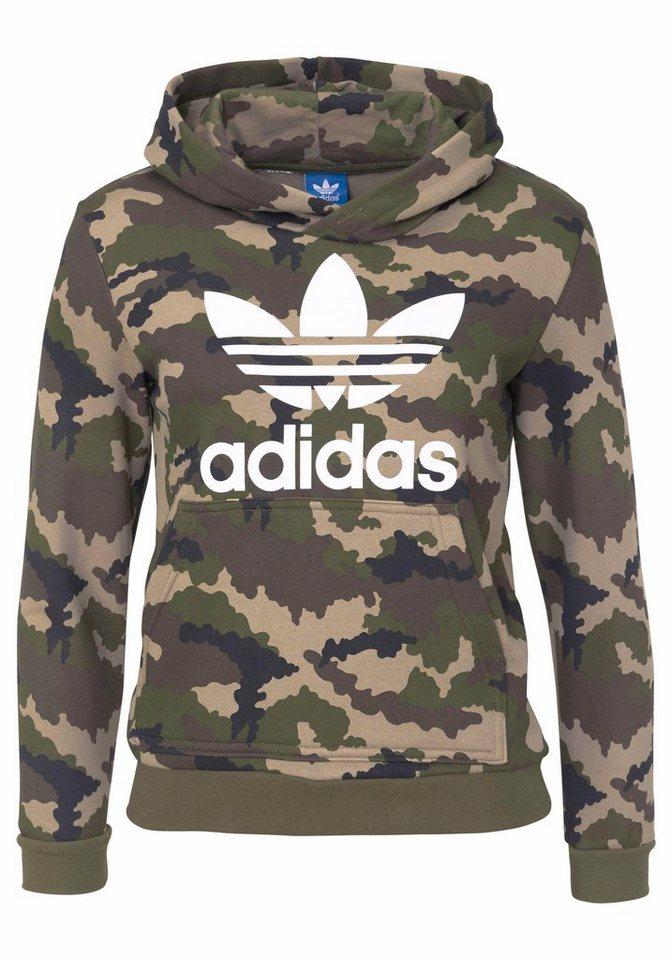 adidas Originals Sweatshirt »J TRF TM HOOD« in tarnfarben