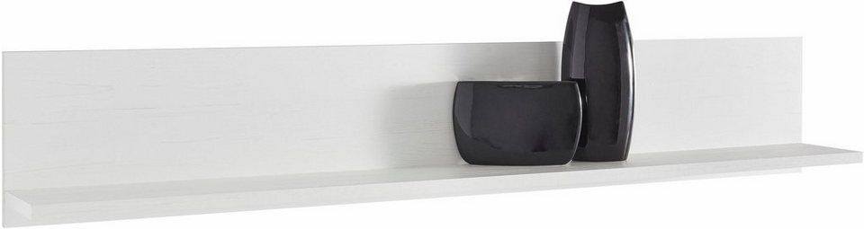 Wandbord, Breite 160 cm in Piniefarben Weiß