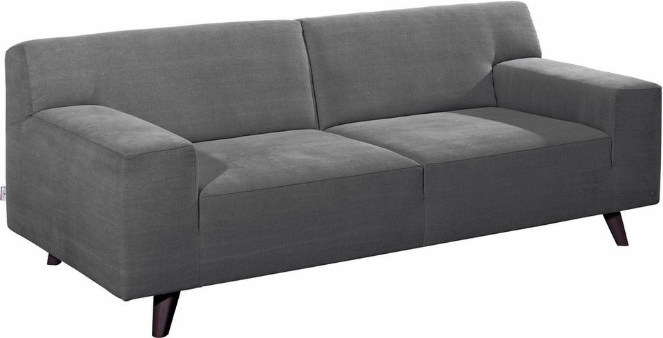 TOM TAILOR 2,5-Sitzer Sofa »NORDIC PURE« im Retrolook, Füße wengefarben in graphite TUS 9