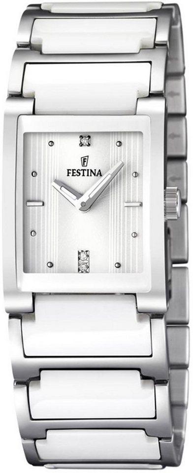 Festina Quarzuhr »F16536/1« in silberfarben-weiß