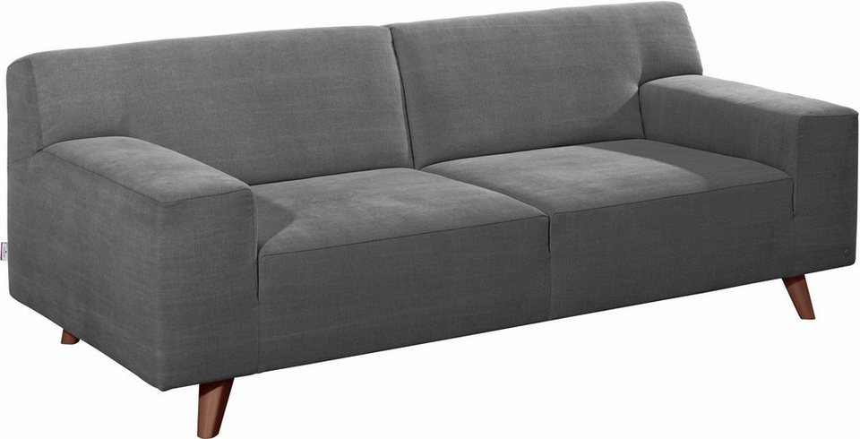 tom tailor 2 sitzer sofa nordic pure im retrolook f e nussbaumfarben online kaufen otto. Black Bedroom Furniture Sets. Home Design Ideas