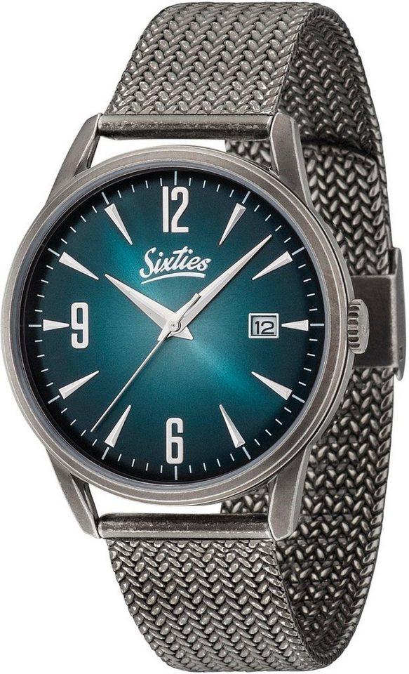 Sixties Quarzuhr »SIX500SAME-03« in grau
