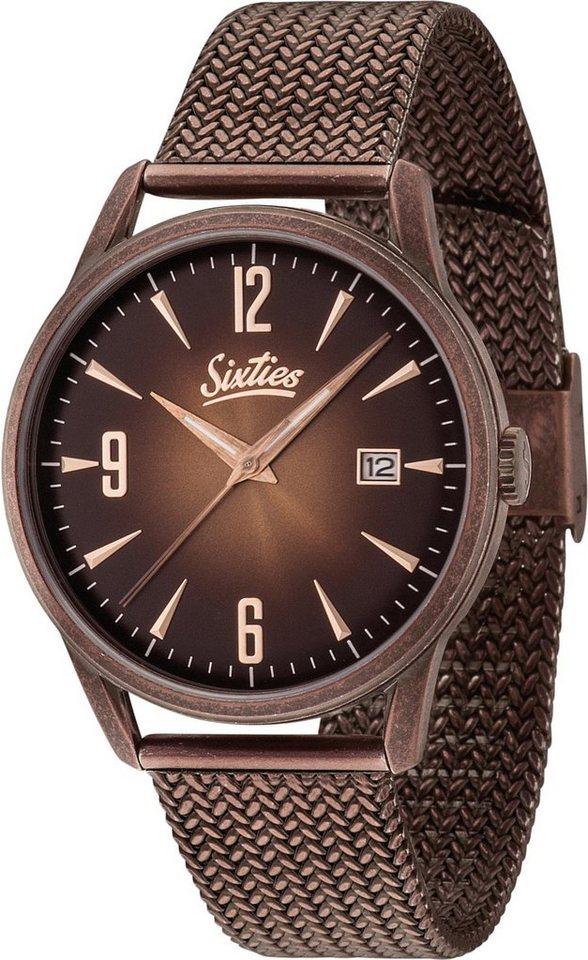 Sixties Quarzuhr »SIX500RGAME-05« in bronzefarben