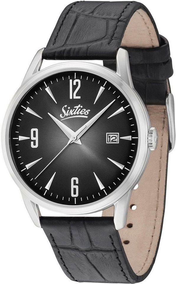 Sixties Quarzuhr »SIX500SL-01-1« in schwarz