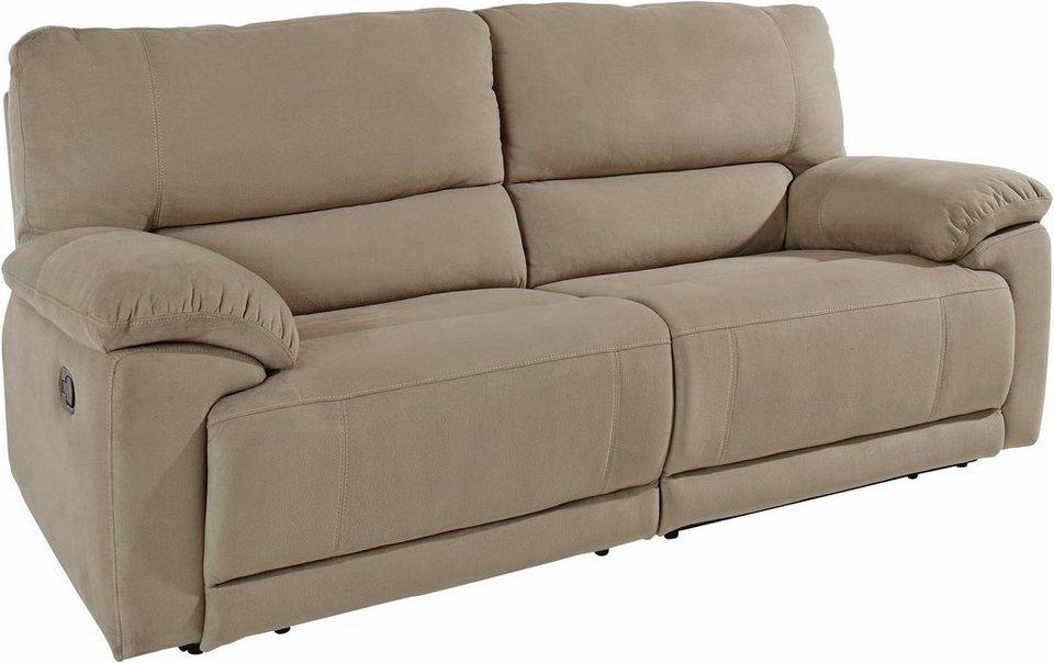 Atlantic Home Collection 3-Sitzer, mit Relaxfunktion und Federkern in creme-beige