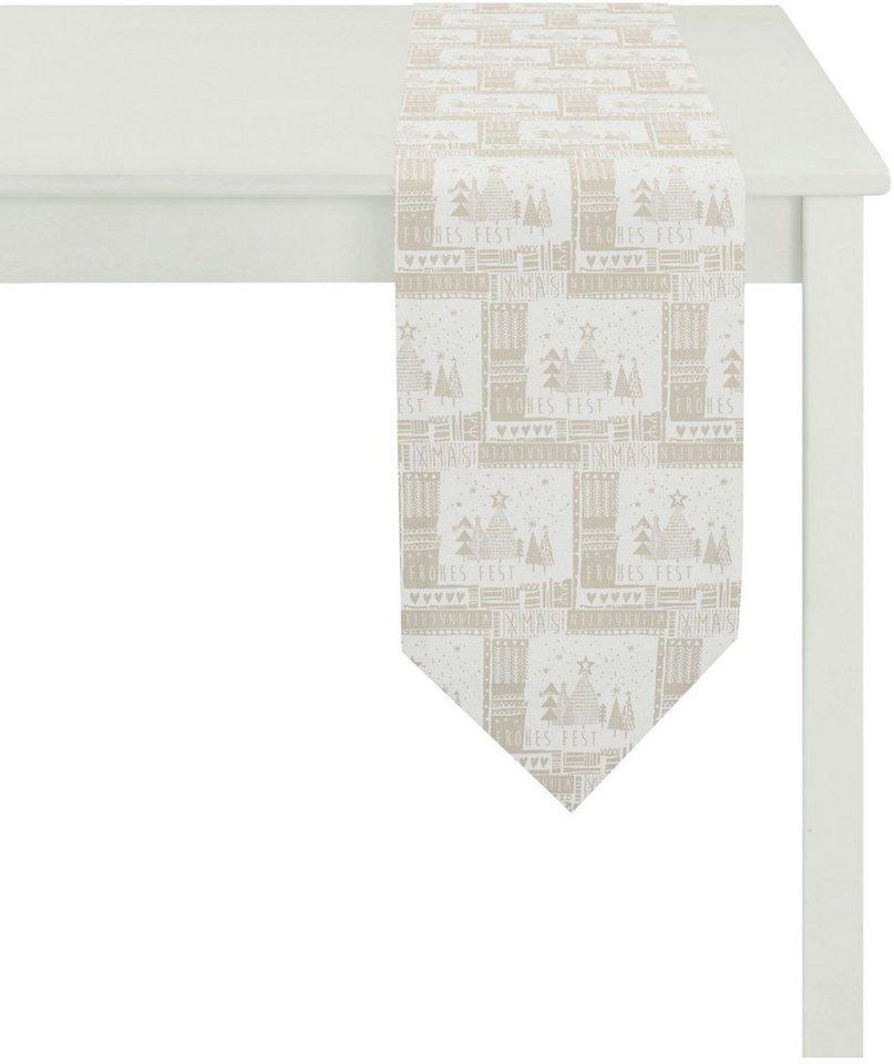 Apelt Tischwäsche, »5155 WINTERWELT« in weiß/natur