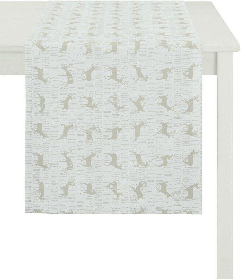 Apelt Tischwäsche, »5154 WINTERWELT« in weiß/sand